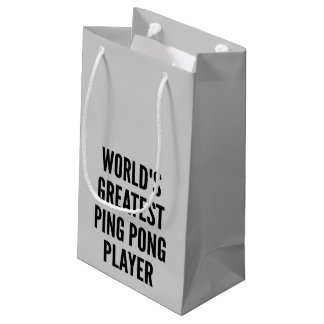 Worlds Greatest Ping Pong Player Small Gift Bag