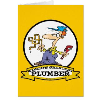 WORLDS GREATEST PLUMBER II MEN CARTOON CARD
