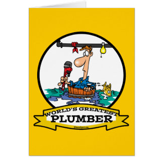 WORLDS GREATEST PLUMBER IV MEN CARTOON GREETING CARDS
