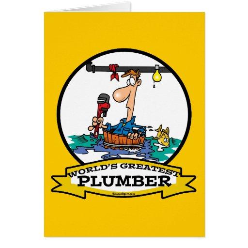 WORLDS GREATEST PLUMBER IV MEN CARTOON GREETING CARDS
