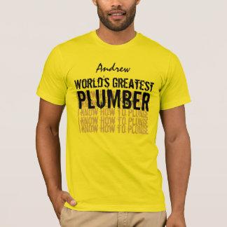 World's Greatest PLUMBER V07 GOLD T-Shirt