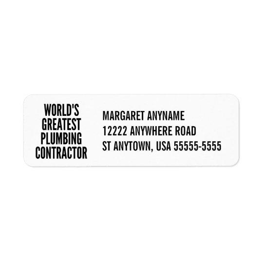 Worlds Greatest Plumbing Contractor