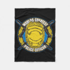 Worlds Greatest Police Officer Fleece Blanket