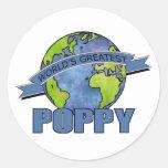 World's Greatest Poppy Classic Round Sticker