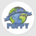 World's Greatest Poppy Round Sticker