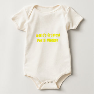 Worlds Greatest Postal Worker Baby Bodysuit