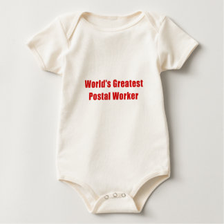 Worlds Greatest Postal Worker Baby Bodysuit