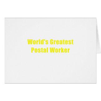 Worlds Greatest Postal Worker Card