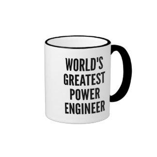 Worlds Greatest Power Engineer Ringer Mug