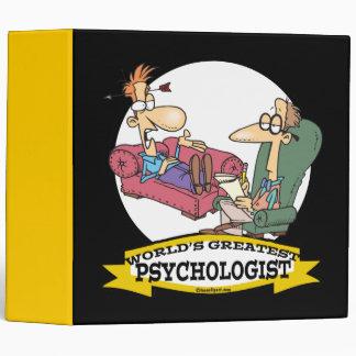 WORLDS GREATEST PSYCHOLOGIST MEN CARTOON VINYL BINDER