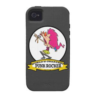 WORLDS GREATEST PUNK ROCKER GIRL CARTOON VIBE iPhone 4 CASE