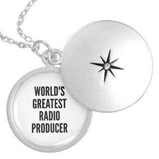 Worlds Greatest Radio Producer Silver Plated Necklace