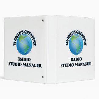 World's Greatest Radio Studio Manager Vinyl Binders