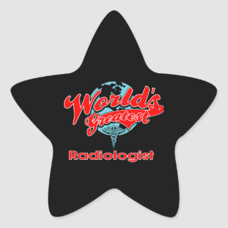 World's Greatest Radiologist Star Sticker