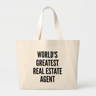 Worlds Greatest Real Estate Agent Large Tote Bag