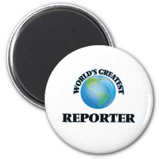 World's Greatest Reporter Fridge Magnets