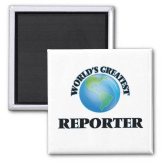 World's Greatest Reporter Fridge Magnet