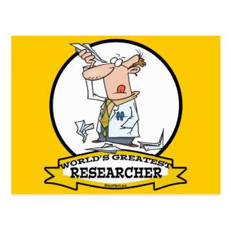 WORLDS GREATEST RESEARCHER II MEN CARTOON POSTCARD