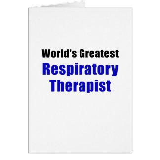 Worlds Greatest Respiratory Therapist Card