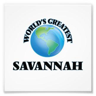 World's Greatest Savannah Photo Print