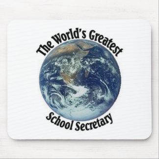 World's Greatest School Secretary Mouse Pad