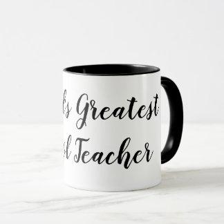 World's greatest school teacher coffee mug