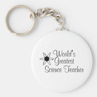 Worlds Greatest Science Teacher 2 Basic Round Button Keychain