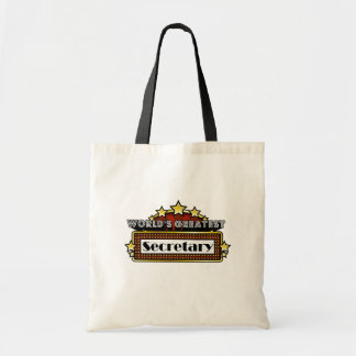 World's Greatest Secretary Budget Tote Bag