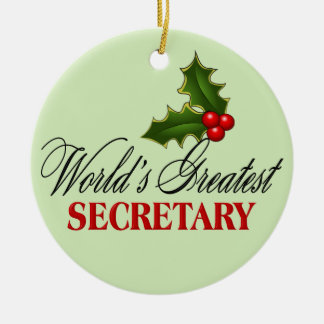 World's Greatest Secretary Ceramic Ornament