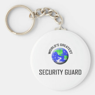 World's Greatest Security Guard Basic Round Button Keychain