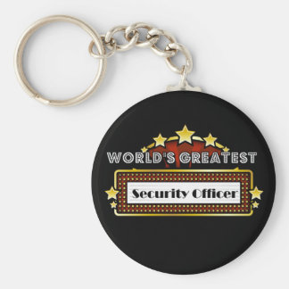 World's Greatest Security Officer Basic Round Button Keychain