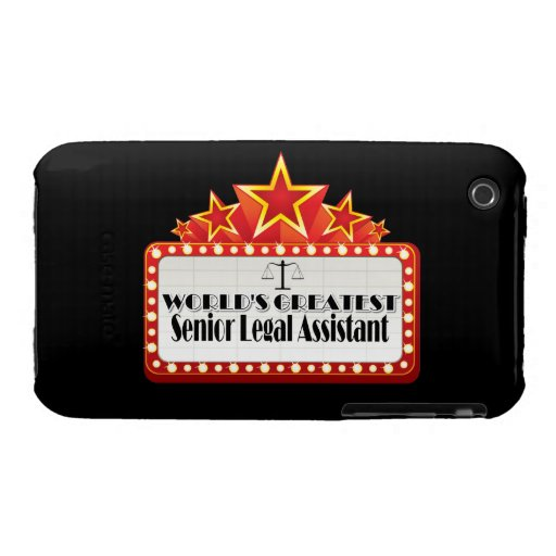 World's Greatest Senior Legal Assistant iPhone 3 Cases