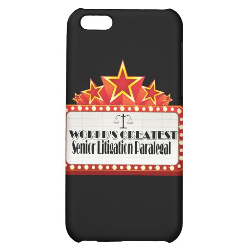 World's Greatest Senior Litigation Paralegal Cover For iPhone 5C