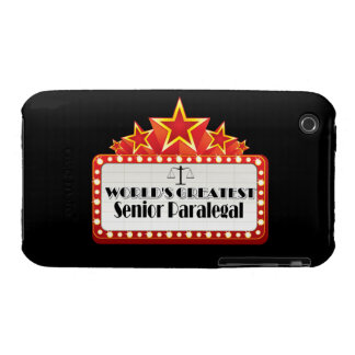 World's Greatest Senior Paralegal iPhone 3 Case-Mate Cases