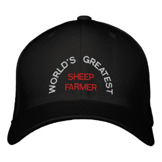 WORLD'S GREATEST, SHEEP FARMER EMBROIDERED HAT
