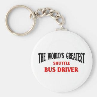 World's Greatest Shuttle Bus Driver Basic Round Button Keychain