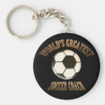 World's Greatest Soccer Coach Basic Round Button Keychain