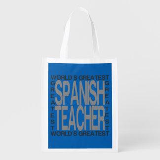 Worlds Greatest Spanish Teacher Market Totes