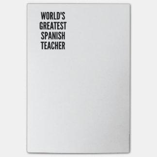 Worlds Greatest Spanish Teacher Post-it Notes