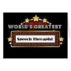 World's Greatest Speech Therapist Card