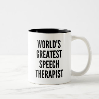 Worlds Greatest Speech Therapist Two-Tone Coffee Mug