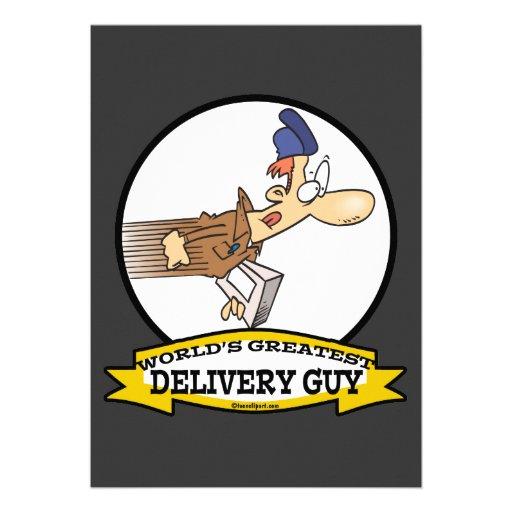 WORLDS GREATEST SPEEDY DELIVERY GUY MEN CARTOON ANNOUNCEMENTS