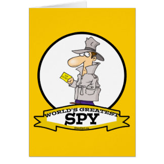 WORLDS GREATEST SPY MEN CARTOON CARD