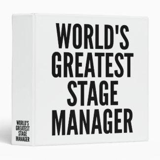 Worlds Greatest Stage Manager Vinyl Binder