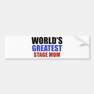 World's greatest STAGE MOM Bumper Sticker