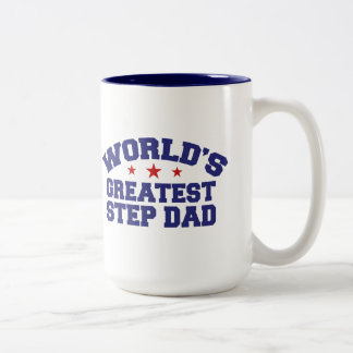 World's Greatest Step Dad Two-Tone Coffee Mug