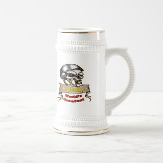 World's Greatest Stepfather Father's Day Gift 18 Oz Beer Stein