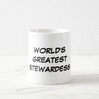 """World's Greatest Stewardess"" Mug"