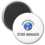 World's Greatest Store Manager Fridge Magnets