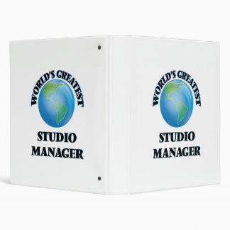 World's Greatest Studio Manager 3 Ring Binder